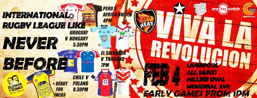 Squads Announced For Rugby League Revolucion