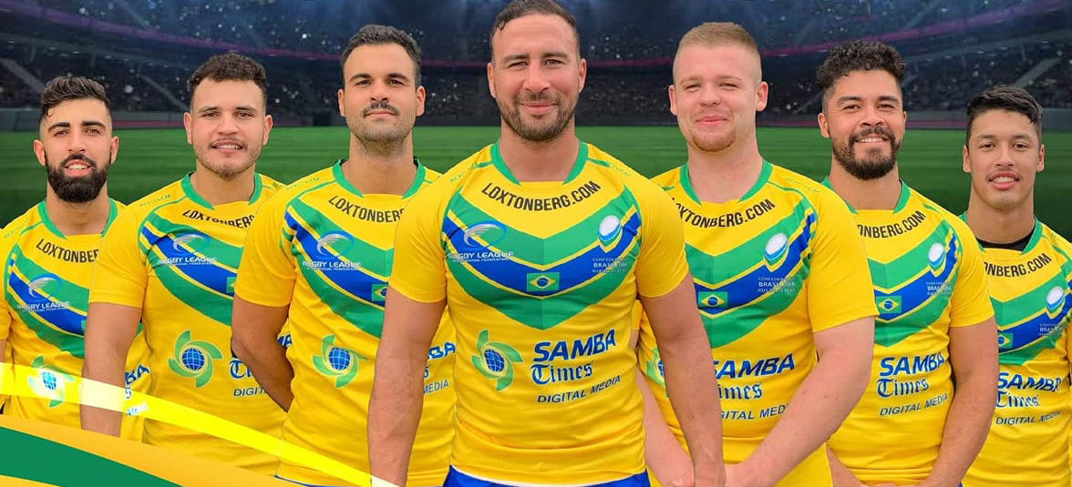 Matt Gardner, front, will steer both Brasil's men's and women's rugby league teams.