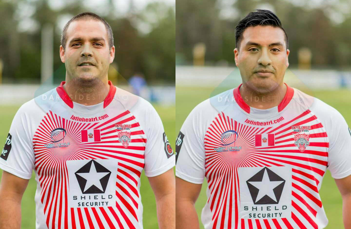 Peru Rugby League players Jye Sommers and Luis Fhon